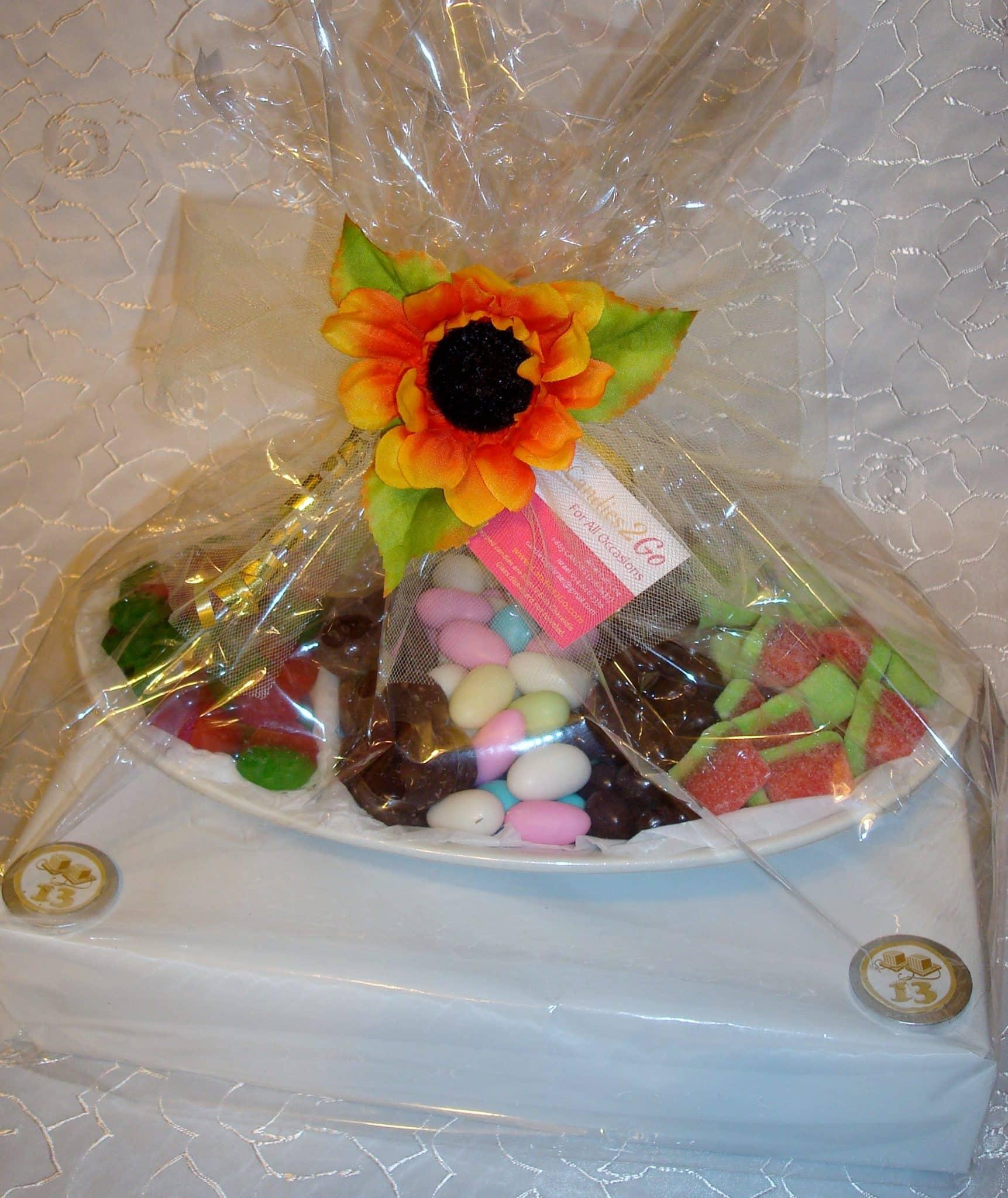 Bar Mitzva- Ceramic Tray on display box- chocolate and candy