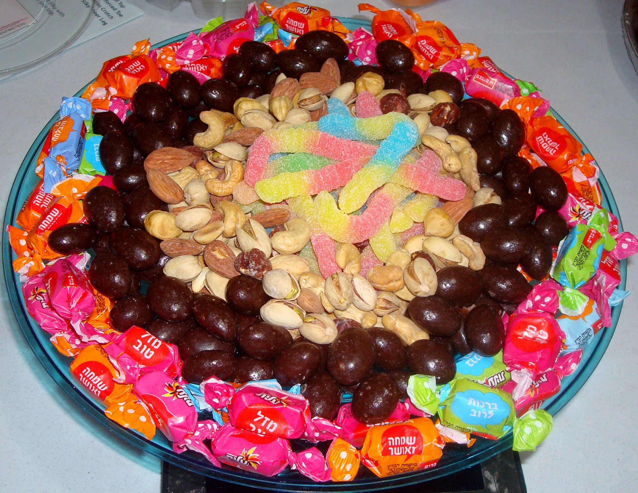 Chocolate, candy, nuts